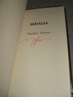 Signed limited 1st edition of Sedalia by David J Schow, Fine as new