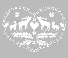 Ce pochoir adhésif repositionnable, de fabrication artisanale française dans une matière PVC grise souple, résistante et lavable, résiste à de multiples utilisations, s'adapte à la plupart des Kirigami, Christmas Stencils, Christmas Crafts, Theme Nature, Paper Lampshade, Theme Noel, Silhouette Portrait, Stencil Designs, Glass Etching