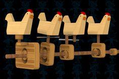 Hen House Wooden Toy - STEP / IGES,STL,SketchUp,Parasolid,SOLIDWORKS,Autodesk 3ds Max - 3D CAD model - GrabCAD