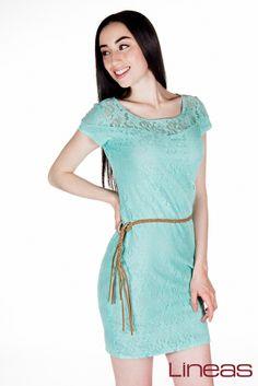 Vestido. Modelo 17550. Precio $200 MXN #Lineas #outfit #moda #tendencia #2014 #ropa #prendas #estilo #outfit #primavera #vestido
