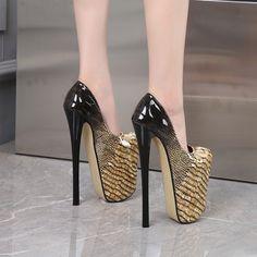 Sky High, Women's Pumps, Night Club, High Heels, Platform, Dance, Elegant, Shallow, Shoes