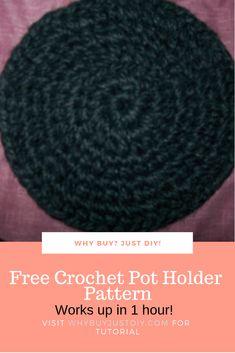 Free Crochet Pot Holder Pattern