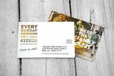 Citylight Church Concept - Proof of Concept, 3 Church Graphic Design, Church Design, Graphic Design Inspiration, Postcard Invitation, Invitation Design, Invitations, Marketing Postcard, Direct Mailer, Volunteer Ideas