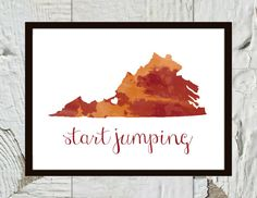 "Hokie Spirit Football  ""Start Jumping"" Print"