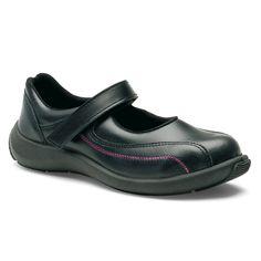 Chaussures de sécurité S.24 Ligne Fashion Salome S1P Réf. 8972 • Tige cuir VERPELLE noir • Doublure textile • Embout acier • Semelle anti-perforation inox • Semelle extérieure TPU light • Semelle intérieure SENSATION+
