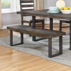 Coaster Murphy Rustic Dining Bench with Metal U-Base - Coaster Fine Furniture