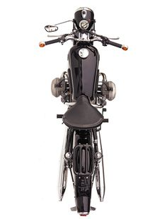 The classic lines of a 1966 BMW R50.