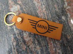 Mini car key ring, DOUBLE SIDED genuine leather key chain, keyring 328 Car Key Ring, Leather Keyring, Motorcycle Leather, Car Keys, Split Ring, Natural Leather, Cowhide Leather, Italian Leather, Key Rings