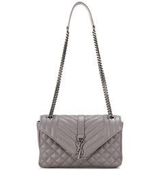 Saint Laurent - Medium Tri-Quilt Slouchy leather shoulder bag - Saint Laurent's quilted shoulder bag is the investment piece that's topping everyone's wish list this season. We adore the smooth grey leather and cool gunmetal hardware. Wear this roomy style for a sophisticated finishing note, no matter what the look or season is. - @ www.mytheresa.com