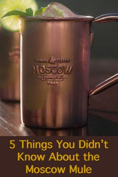 Do you love Moscow Mules? Here are 5 things you didn't know about them. http://www.foodandwine.com/fwx/drink/5-things-you-didn-t-know-about-moscow-mule-and-where-get-original-copper-mugs