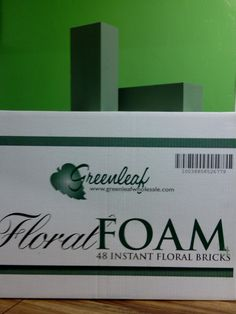 Floral Wet Foam Available at Greenleaf Wholesale Florist  Phoenix (602) 264-3781 www.greenleafwholesale.com