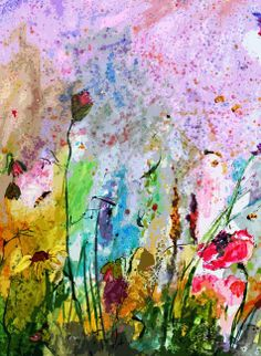 #Wildflowers and #Poppies #Provence Modern Art by Ginette Callaway