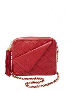 24be94a987cd Red Quilted Lambskin Diagonal Camera Bag by Chanel at Gilt #Chanelhandbags  #ladiesdesignerbags