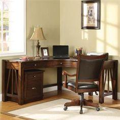 Riverside Castlewood Curved Corner Desk
