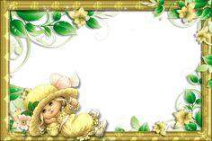 Transparent PNG Frame with Cute Girl Arabesque, Image Transparent, Cute Frames, Girls Gallery, Fantasy, High Quality Images, Cute Girls, Framed Art, Artwork