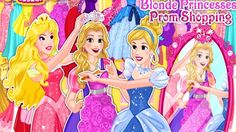 In Blonde Princesses Prom Shopping, all blonde Disney Princess went to the shopping to shop for a prom night. And you can join them in this task. Let's go shopping together with Cinderella, Rapunzel and Aurora! Your friends, princesses need to create beautiful outlooks for their prom. Choose the perfect dress for every princess among dozen different beautiful dresses and stylish costumes.