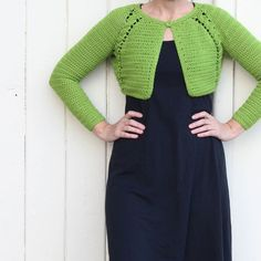 Yippee!!! Little bolero cardigan complete! What a lovely little project this was! If you are into making crochet garments I can thoroughly recommend this pattern.  It is called Boulder Bolero by Doris Chan and can be found on Ravely.  I used 5 and a half balls of DMC Woolly which of course you can find @yummyyarnandco  #greengreengreenforme #crochet #ilovecrochet #grannysquares #crocheting #crochetaddict #crochetlove #wool #yarn #interweave #interweavecraft #interweaveknits #craftastherapy… Crochet Cardigan, Girl Gang, Crochet Tops, Wool Yarn, Instagram Posts, Pattern, Projects, How To Make, Fashion