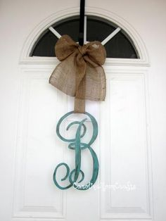 Monogram Letter in 12 inches in Monogram Font by CarolinaMoonCrafts for $39.95