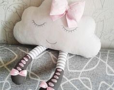Cuscino di cloud, Cloud cuscino, cuscino Cloud, Nursery Decor, Baby shower regalo ragazza