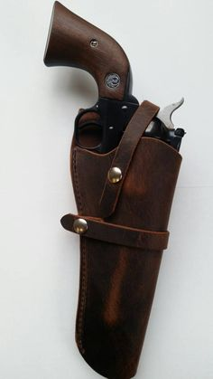 Western acción funda Gun Holster, Leather Holster, Leather Bag, Colt 1911, 1911 Pistol, Crazy Horse, Rifles, Western Holsters, Single Action Revolvers