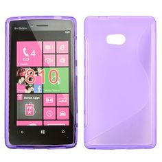 S-Line Transparent (Lilla) Nokia Lumia 810 Deksel
