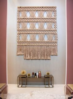 Magazine - Stylish Living inspiration at the Amsterdam interior design expo Macrame Design, Woven Wall Hanging, Model Homes, Wall Hangings, Valance Curtains, Home And Garden, Magazine, Interior Design, Space