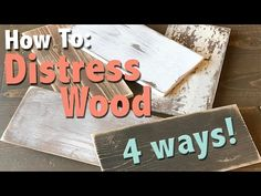 How to Distress Finish Furniture - How To Video - Shanty 2 Chic