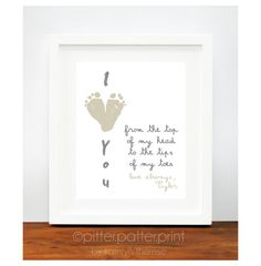 Gift for Grandparents  I Love You Baby by PitterPatterPrint, $30.00