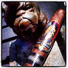 #nowsmoking @AJFcigars MOW Side Project Little Devil. TONS of flavor right off the bat. #cigar