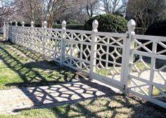 Chippendale fence, Williamsburg, VA