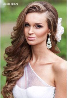 Long hair, wedding hairstyles, hair down hairstyles