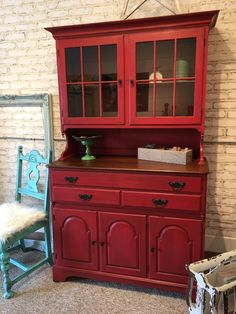 The Copper Bell :l: CeCe Caldwell's Chalk + Clay Paint :l: Jersey Tomato :l: China Cabinet :l: Painted Furniture