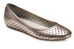 Great must-have ballet flat! ECCO Owando Perf in light gold gemstone