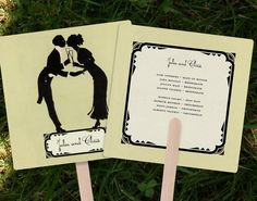 Wedding Ceremony Programs Vintage Hand Fans Custom For par GoGoSnap, $125,00
