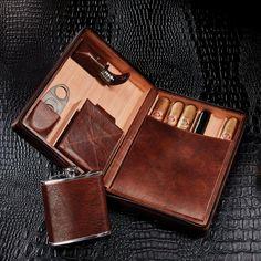 Cigar Travel Case, Leather Cigar Case, Cigar Cases, Wine Storage, You Bag, Leather Craft, Cigars, Flask, Tools