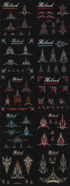 Design Element - Hotrod Pinstripe Design Element -Hotrod Pinstripe Design Element - Hotrod Pinstripe Design Element - Illustration of Vintage borders and dividers set for ornate and decorations vector art, clipart and stock Car Pinstriping, Pinstriping Designs, Hot Rods, Hot Rod Tattoo, Tatto Old, Pinstripe Art, Art Clipart, Vector Art, Garage Art