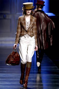 Breeches and tall boots are not a fashion statement! They do have a real purpose!!!!! -__-