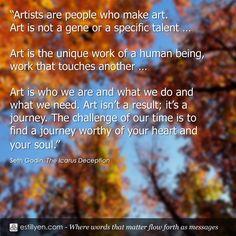 Art is a journey