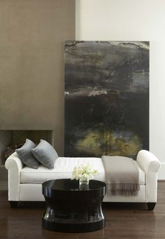 Design Chic: In Good Taste: Robert Brown Design  Realllllly Good Paint Color on the Fireplace...