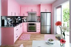 Colourful pink kitchens - Decor, Lifestyle