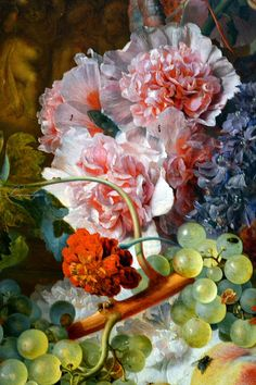 Detail: Fruit Piece by Jan van Huysum