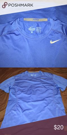 Nike pro combat shirt DRI-FIT compression fitted shirt. Great for working out or just being active. Royal blue Nike Shirts Tees - Short Sleeve