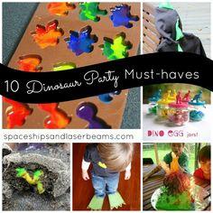 10 Dinosaur Party Must-Haves: Boy Birthday Ideas - www.spaceshipsandlaserbeams.com #boypartyideas #bday #spaceshipsandlaserbeams