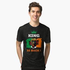 'Savage Raptor Naughty Boy' Tri-blend T-Shirt by Christiaan Van Den Berg Gas Face, Santa Claus Hat, Team Apparel, My T Shirt, I Love Cats, Black Girl Magic, T Shirts, Funny Shirts, Savage