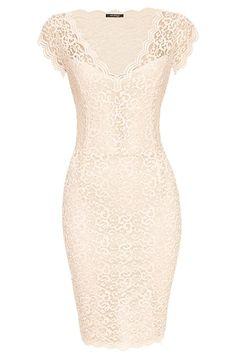 Koronkowa sukienka ołówkowa