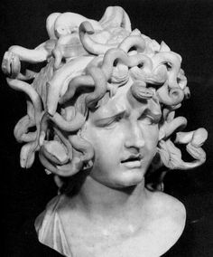 "In Greek mythology, a Gorgon (plural: Gorgons, Ancient Greek: Γοργών/Γοργώ Gorgon/Gorgo) is a female creature. The name derives from the ancient Greek word gorgós, which means ""dreadful"". While descriptions of Gorgons vary across Greek literature and occur in the earliest examples of Greek literature, the term commonly refers to any of three sisters who had hair made of living, venomous snakes, as well as a horrifying visage that turned those who beheld her to stone."