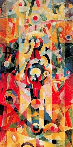 Johannes Itten - Ascension and Pause, 1919 - Kunsthaus Zurich, Switzerland Johannes Itten, Modern Art, Contemporary Art, Bauhaus Art, Wow Art, Kandinsky, Jackson Pollock, Bunt, Art History
