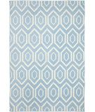 living room? Dallas RugStudio presents Safavieh Dhurries DHU556B Blue / Ivory Flat-Woven Area Rug