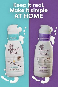 You can keep it real and make it simple at home with natural bliss dairy creamers. Grab your favorite mug and enjoy a perfect cup of coffee with delicious flavors like Vanilla and Sweet Cream. Healthy Foods To Eat, Healthy Tips, Healthy Choices, Home Health Remedies, Koh Tao, Homemade Beauty Products, Natural Cures, Natural Light, Natural Hair