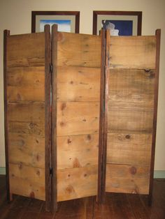 Screen made from reclaimed barn wood by RusticReclaimation